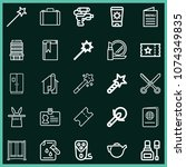 set of 25 other outline icons...   Shutterstock .eps vector #1074349835