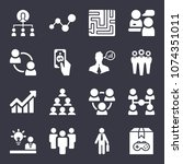 business filled vector icon set ... | Shutterstock .eps vector #1074351011