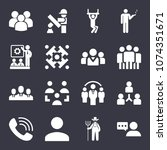 people filled vector icon set... | Shutterstock .eps vector #1074351671