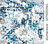 hand drawn pattern with rows of ... | Shutterstock .eps vector #1074352961