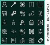 set of 25 other outline icons...   Shutterstock .eps vector #1074353435