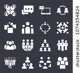 group filled vector icon set on ... | Shutterstock .eps vector #1074354824