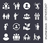 people filled vector icon set... | Shutterstock .eps vector #1074355247