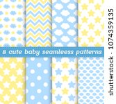 Set Of 8 Baby Seamless Pattern...