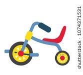 children's tricycle... | Shutterstock .eps vector #1074371531