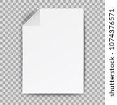 white papers   stock vector | Shutterstock .eps vector #1074376571