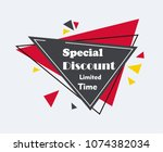 sale  special discount  limited ... | Shutterstock .eps vector #1074382034