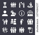 people filled vector icon set... | Shutterstock .eps vector #1074384257