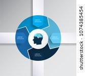 blue modern style infographics... | Shutterstock .eps vector #1074385454