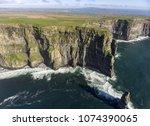 beautiful scenic aerial drone... | Shutterstock . vector #1074390065