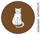 cat icon vector illustration on ...   Shutterstock .eps vector #1074390179