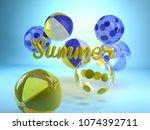 3d rendering of yellow word... | Shutterstock . vector #1074392711