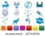 zodiac signs with various color ... | Shutterstock . vector #10743940