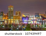 view on downtown of baltimore... | Shutterstock . vector #107439497