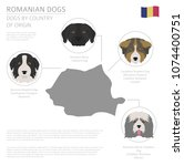 dogs by country of origin.... | Shutterstock .eps vector #1074400751