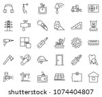 thin line icon set   cutter... | Shutterstock .eps vector #1074404807
