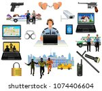 security concept icons set.... | Shutterstock .eps vector #1074406604