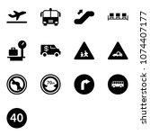 solid vector icon set  ... | Shutterstock .eps vector #1074407177