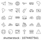 thin line icon set   paper...   Shutterstock .eps vector #1074407561