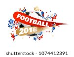 football background place for... | Shutterstock .eps vector #1074412391