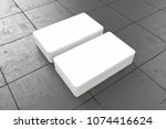 business cards blank mockup  3d ... | Shutterstock . vector #1074416624