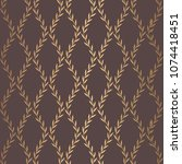 golden leaves pattern. seamless ... | Shutterstock .eps vector #1074418451