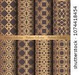 luxury seamless patterns... | Shutterstock .eps vector #1074418454
