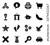 solid vector icon set   holly...
