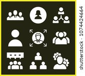 set of 9 user filled icons such ...   Shutterstock .eps vector #1074424664