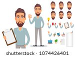 business man in casual clothes. ... | Shutterstock .eps vector #1074426401
