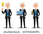 business man in office style... | Shutterstock .eps vector #1074426491