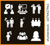 set of 9 people filled icons... | Shutterstock .eps vector #1074427961
