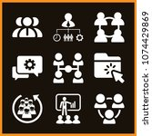 set of 9 work filled icons such ... | Shutterstock .eps vector #1074429869