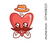 mister heart character with... | Shutterstock .eps vector #1074438215