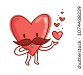 mister heart character with... | Shutterstock .eps vector #1074438239