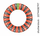 european roulette wheel. top... | Shutterstock .eps vector #1074438797