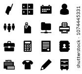 solid vector icon set  ... | Shutterstock .eps vector #1074445331