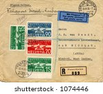 Old addressed envelope from switzerland 1933 - stock photo