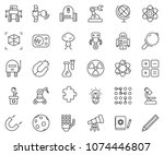 thin line icon set   robot hand ... | Shutterstock .eps vector #1074446807