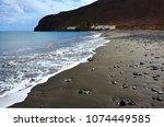 black beach of giniginamar...   Shutterstock . vector #1074449585