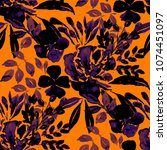 watercolor seamless pattern... | Shutterstock . vector #1074451097