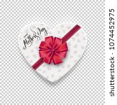 happy mother's day. white box... | Shutterstock .eps vector #1074452975