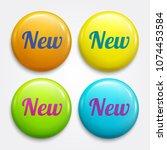 new glossy advertising badges ... | Shutterstock .eps vector #1074453584