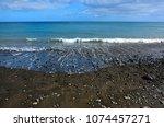 black beach of giniginamar...   Shutterstock . vector #1074457271