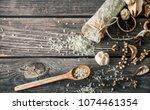 spa still life on a wooden... | Shutterstock . vector #1074461354