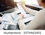 close up of woman hand... | Shutterstock . vector #1074462401