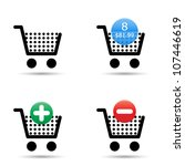 vector shopping cart trolley... | Shutterstock .eps vector #107446619