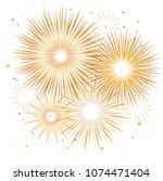 vector holiday firework....   Shutterstock .eps vector #1074471404