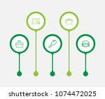 set of 5 cooking icons line... | Shutterstock .eps vector #1074472025