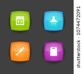 set of 4 cooking icons set.... | Shutterstock .eps vector #1074472091
